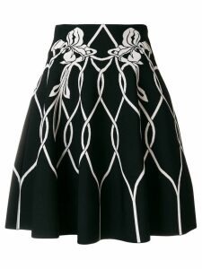 Alexander McQueen high waisted knitted skirt - Black