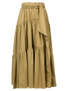 Proenza Schouler Long Cotton Skirt - Green