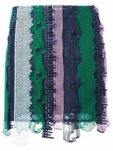 Versace embroidered patchwork mini skirt - Multicolour
