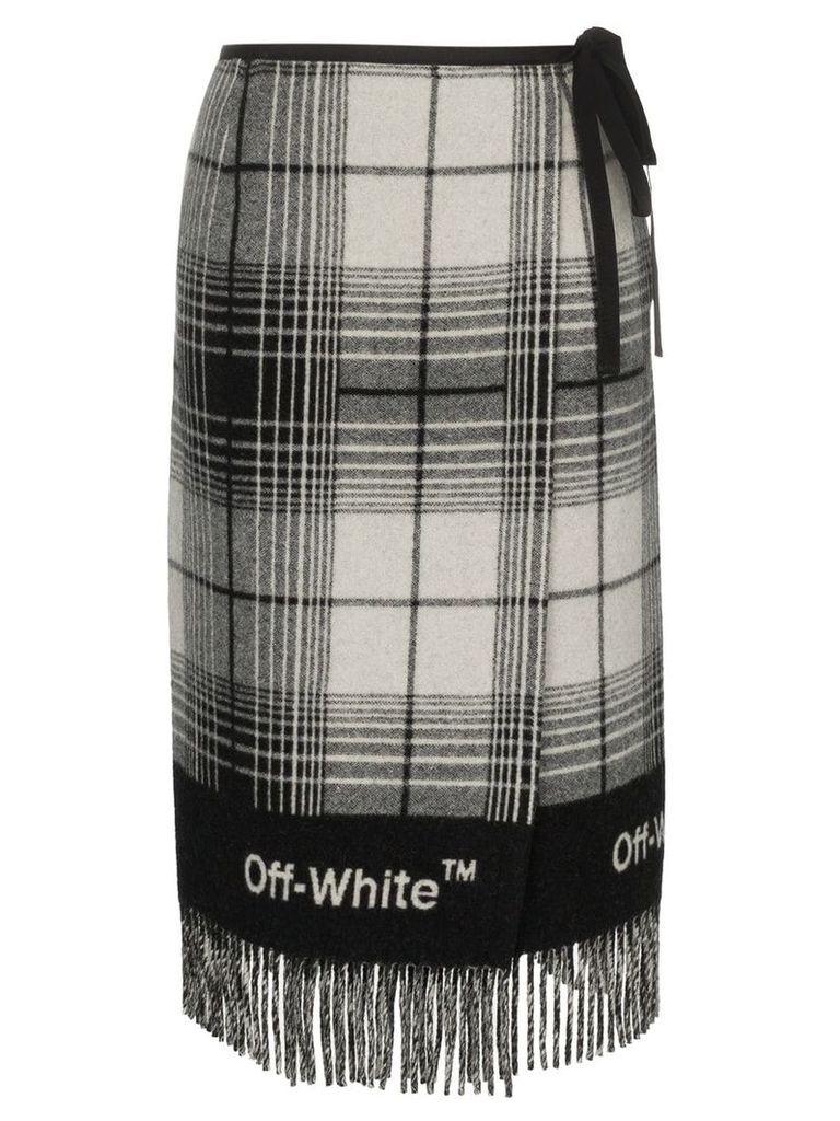 Off-White check blanket skirt - Grey