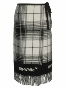 Off-White check blanket skirt - Grey