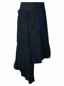 Yohji Yamamoto flap patched skirt - Blue
