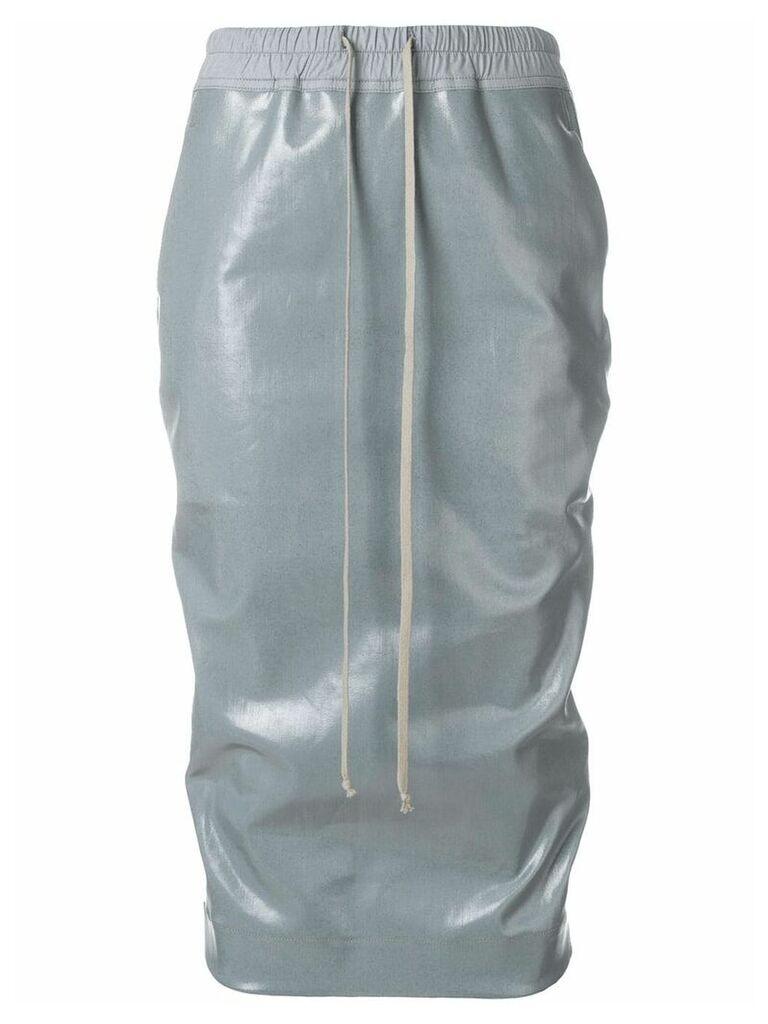 Rick Owens DRKSHDW elasticate vernished skirt - Grey