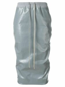 Rick Owens DRKSHDW elasticate vernished skirt - Grey