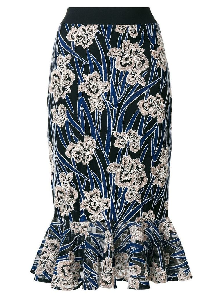 Three Floor Valentina floral mermaid skirt - Blue