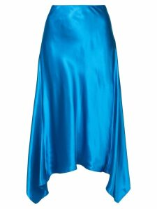 Sies Marjan curved hem midi skirt - Blue