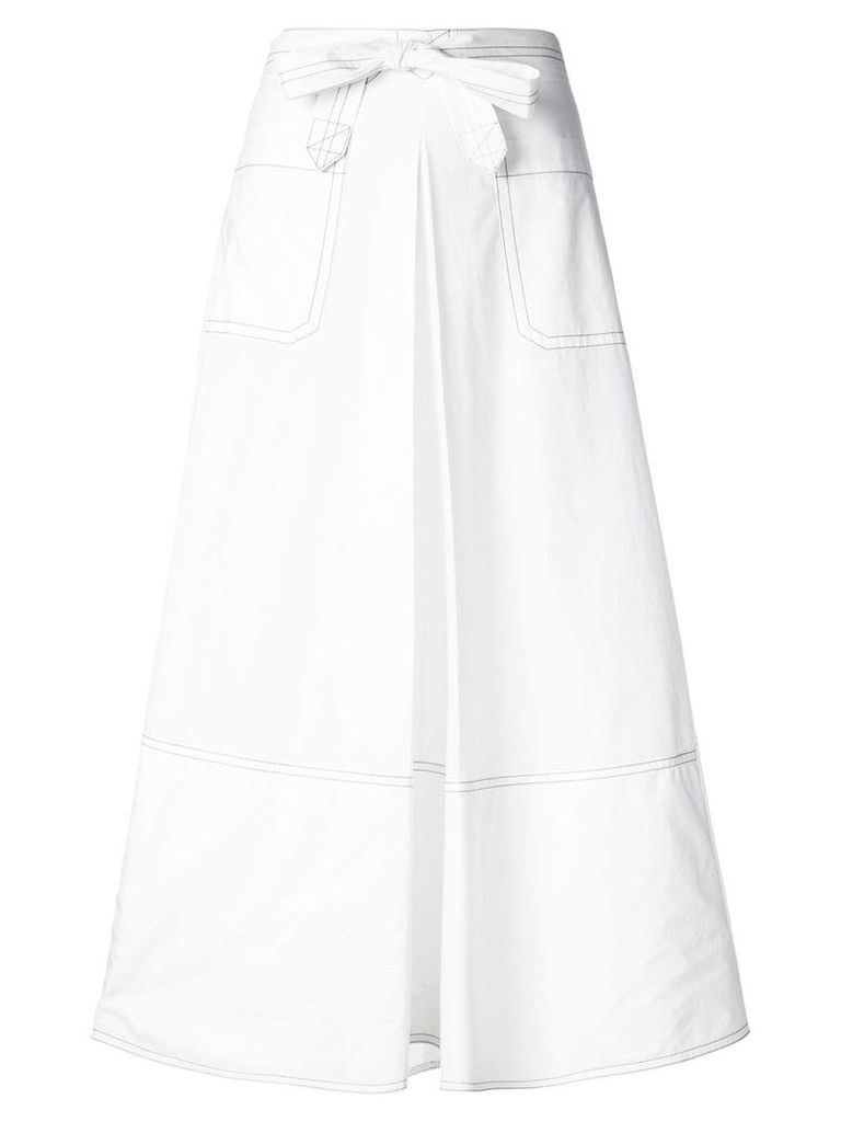 Marni high waisted long skirt - White