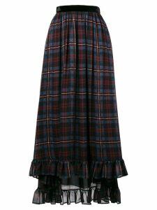 Philosophy Di Lorenzo Serafini check print asymmetric skirt - Blue