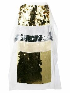 Christopher Kane sequin panel midi skirt - Yellow