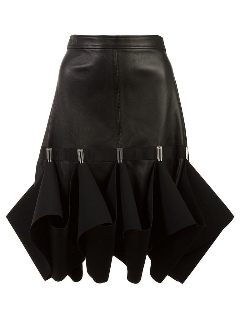 Dion Lee Hook ruffle detail skirt - Black