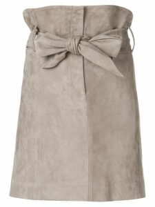 IRO bow tie high waisted skirt - Neutrals