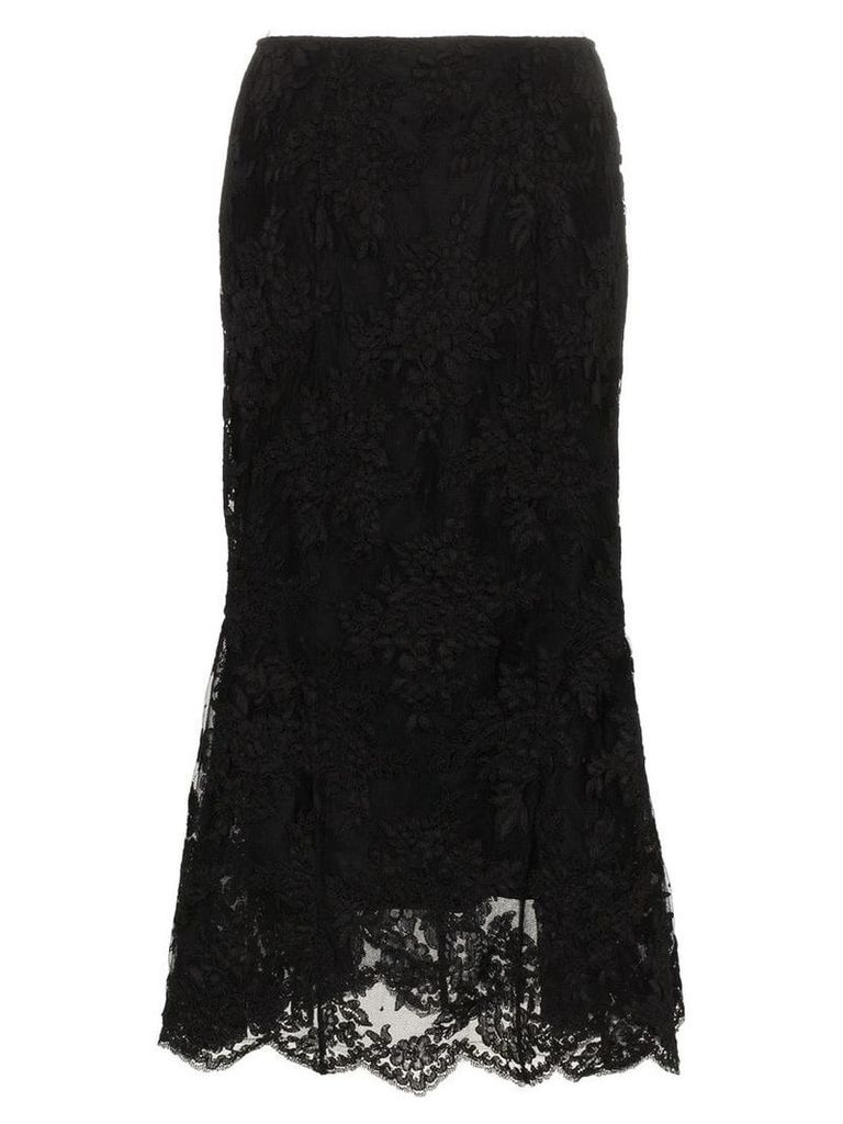 Simone Rocha Tulip black lace skirt
