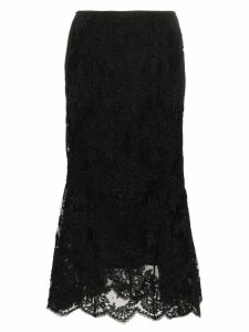 Simone Rocha Tulip black lace skirt