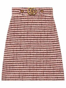Gucci Striped tweed skirt - Red