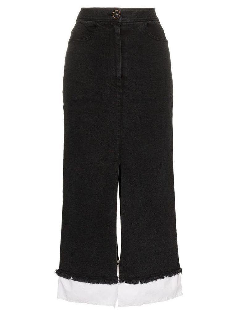 Rejina Pyo high-waisted denim midi skirt - Black