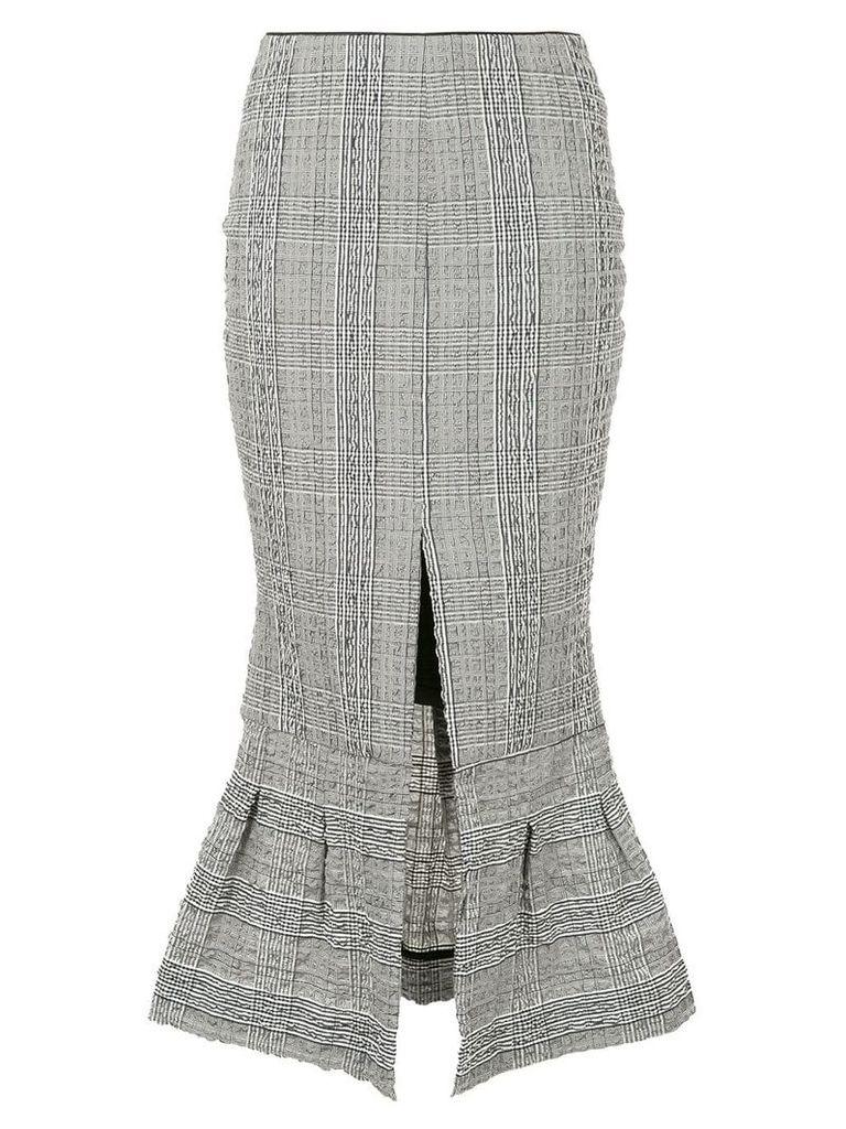Christopher Esber check flared slit detail skirt - Black