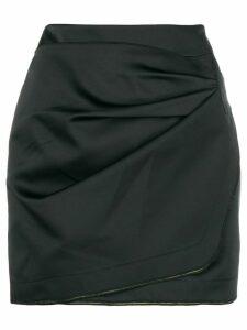 Nº21 wrap front mini skirt - Black
