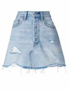 Levi's deconstructed denim skirt - Blue
