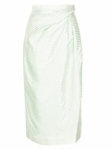 Carolina Herrera striped pencil skirt - Green