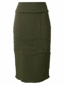 Tom Ford panelled pencil skirt - Green