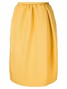 Rochas gathered waist skirt - Yellow