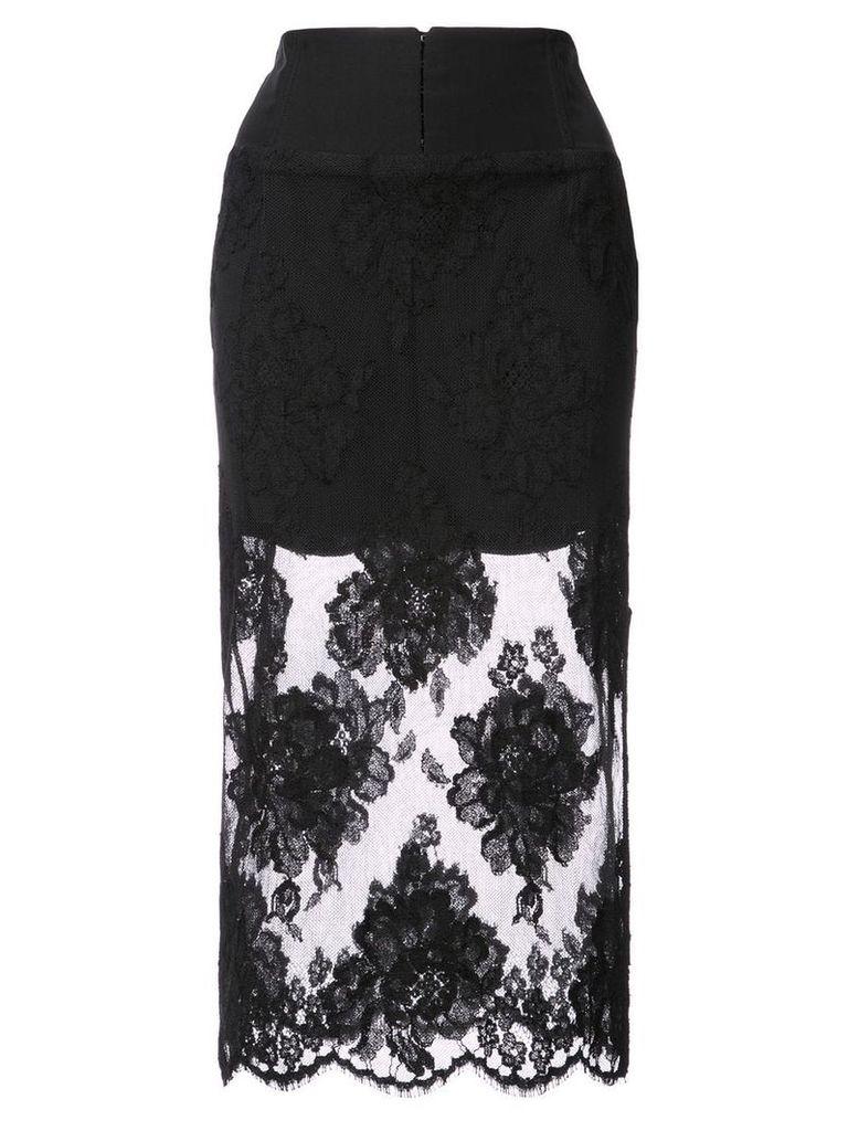Fleur Du Mal lace pencil skirt - Black
