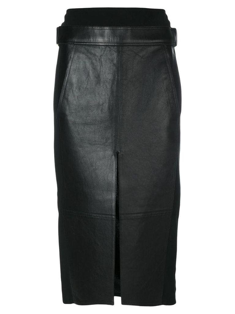 Alexander Wang Lambskin Skirt - Black