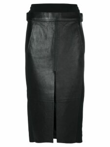 Alexander Wang Lambskin Skirt - Black