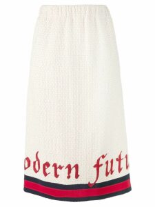 Gucci Modern Future web tweed pencil skirt - Neutrals