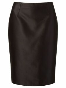 Martha Medeiros zibeline pencil skirt - Black