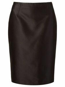Martha Medeiros zibeline pencil skirt - Black