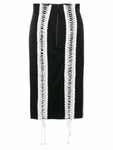 KTZ lace-up skirt - Black