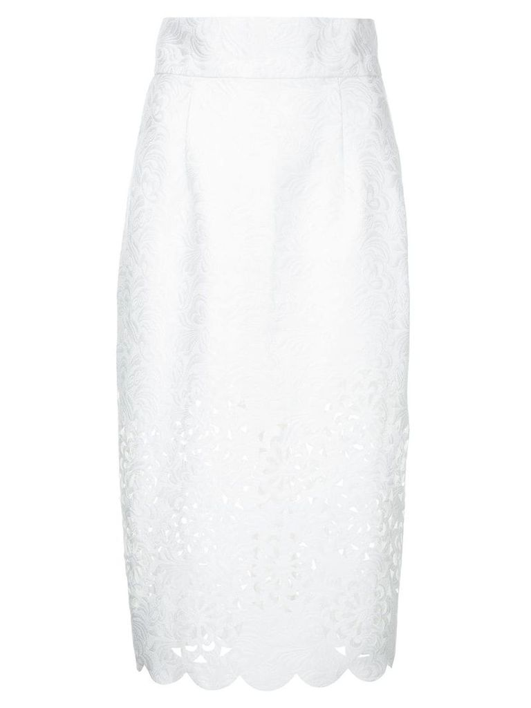 Bambah cut out pencil skirt - White