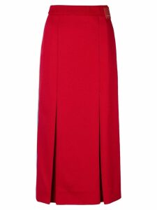 Prada logo badge skirt - Red