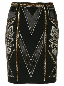 Just Cavalli stud-embellished pencil skirt - Black