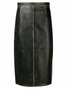Miu Miu faded detail skirt - Black
