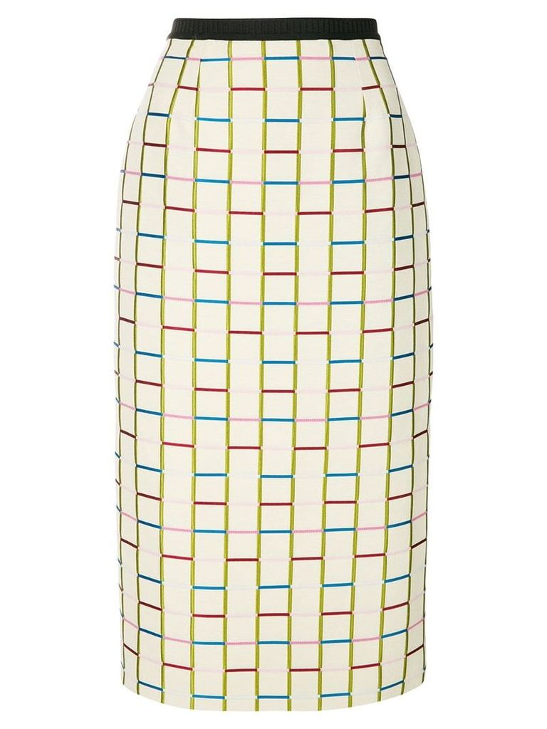 Antonio Marras fitted knit skirt - Neutrals