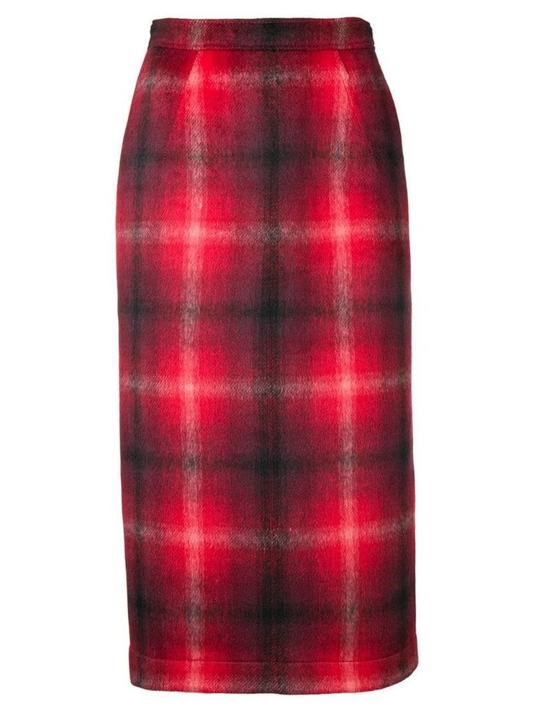 Nº21 checked pencil skirt - Red