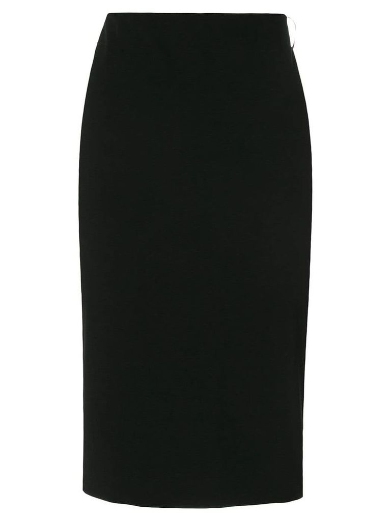 Tom Ford leather trim pencil skirt - Black