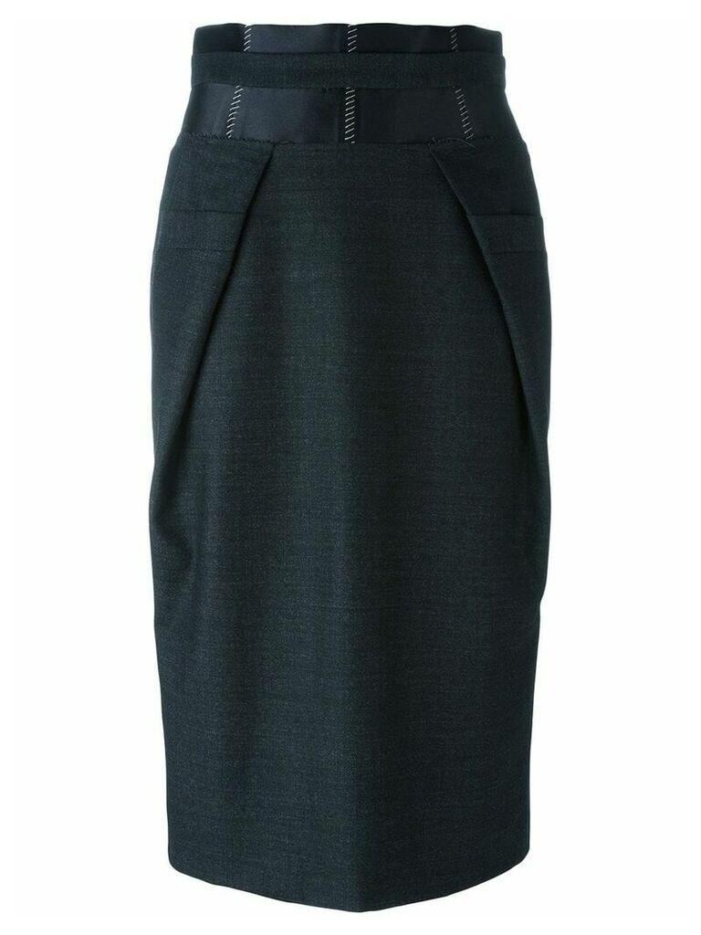 Maison Margiela contrast panel pencil skirt - Black