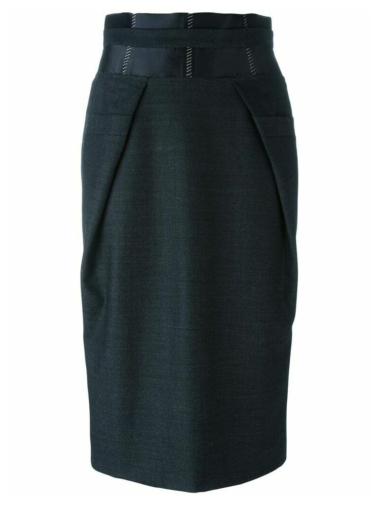 Maison Margiela contrast panel pencil skirt - Black