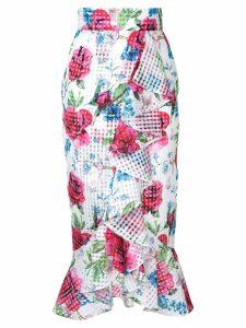 Bambah ruffle skirt - White