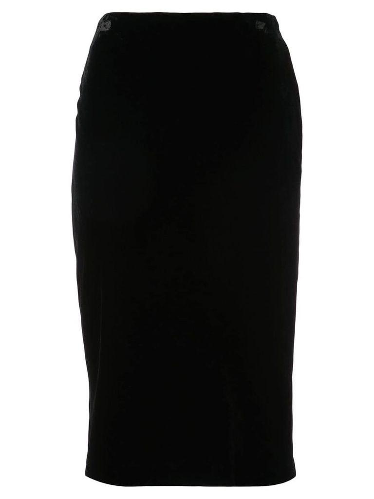 Josie Natori bias cut pencil skirt - Black