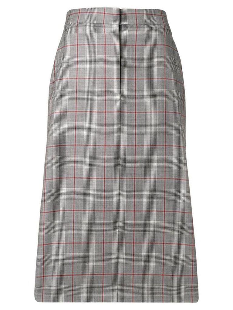 Calvin Klein 205W39nyc checked pencil skirt - Grey
