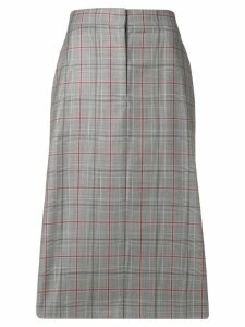 Calvin Klein 205W39nyc checked pencil skirt - Grey