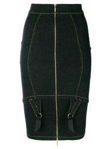 Murmur zipped pencil skirt - Black