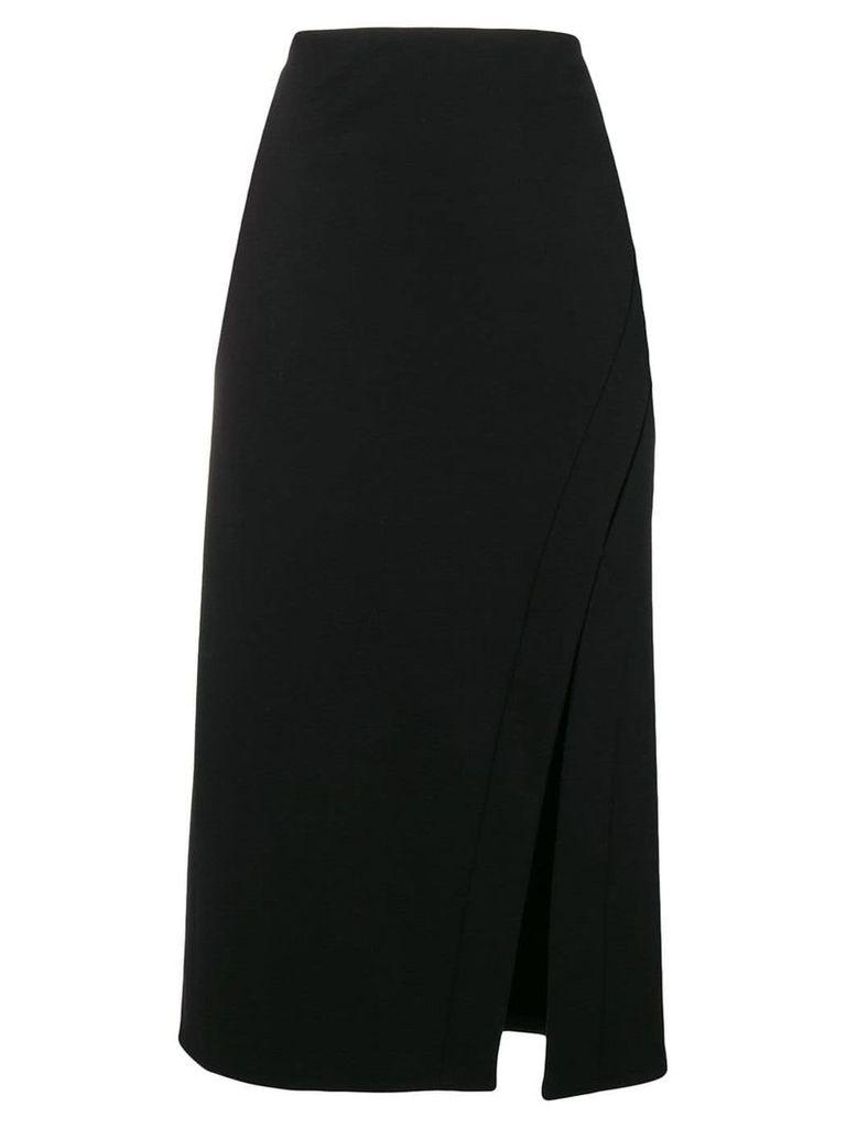 Jil Sander slit detail pencil skirt - Black