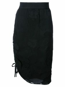 Josie Natori drawstring pencil skirt - Black