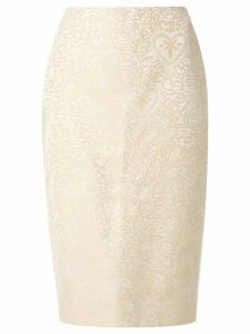 Martha Medeiros jacquard Judith pencil skirt - NEUTRALS