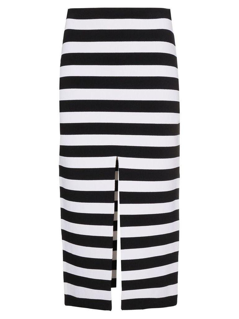 Proenza Schouler Stripe Knit Pencil Skirt - Black